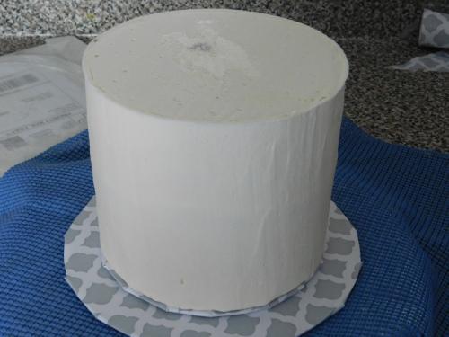 crumb coated easter cake
