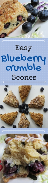 Pinterest blueberry scone graphic