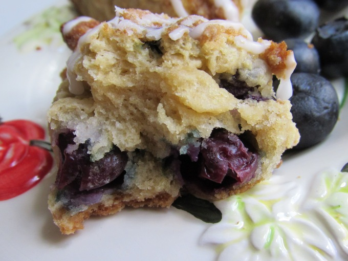 blueberry scone bursting blueberries