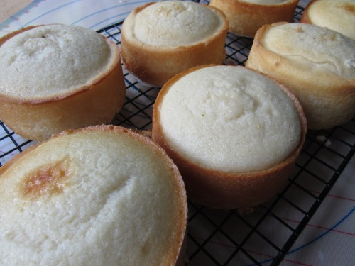 several cakes on cooling rack